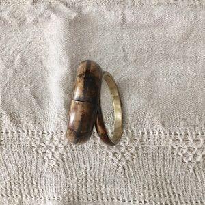 Jewelry - Vintage Bone & Brass Bangle Bracelets • Like New
